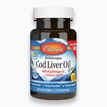 Cod Liver Oil Gems, 460mg Omega-3s  Lemon Flavor (30 Softgels) by Carlson