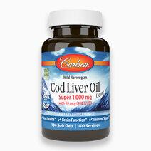 Cod Liver Oil Gems Super (1,000mg x 100 Softgels) by Carlson