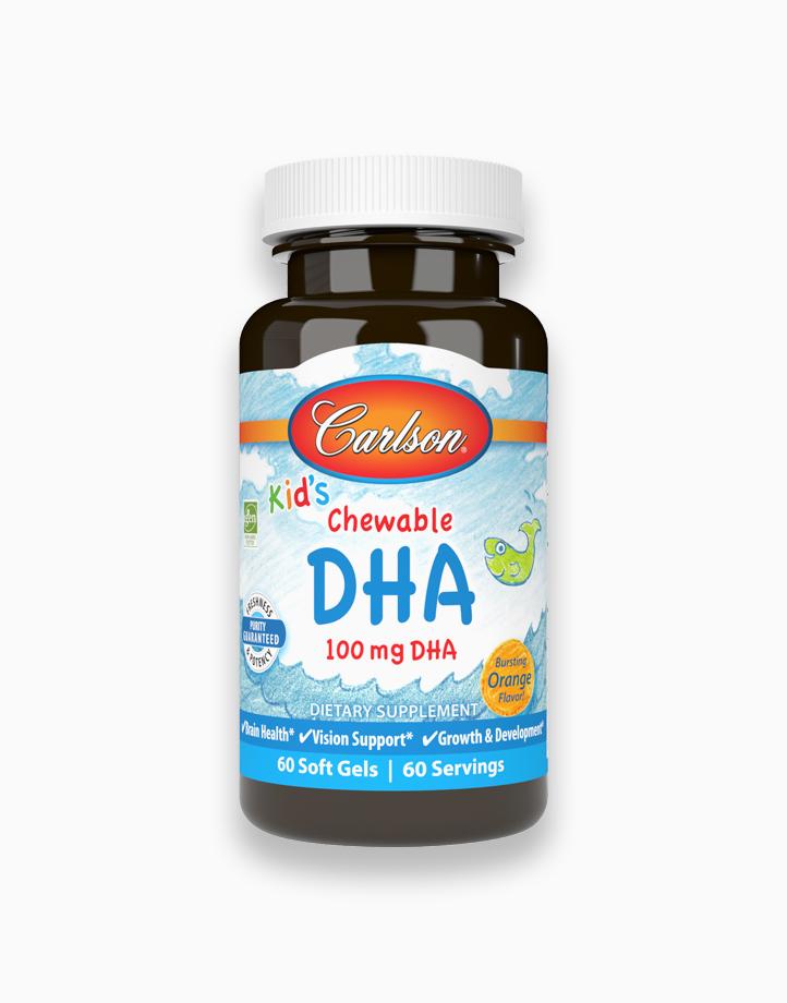 Kid's Chewable DHA 100 mg Orange Flavor (60 Soft Gels) by Carlson