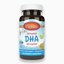 Kid's Chewable DHA Orange Flavor (60 Soft Gels) by Carlson