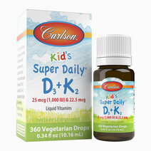 Kid's Super Daily D3 + K2 (360 Drops) by Carlson