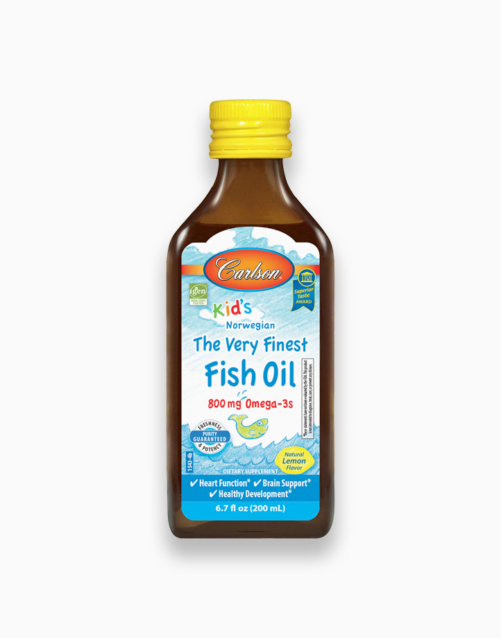 Kid's The Very Finest Fish Oil 800 mg Omega-3s Lemon Flavor (200ml) by Carlson