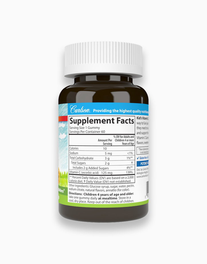 Kid's Vitamin C 125 mg (Orange Flavor) 60 Gummies by Carlson