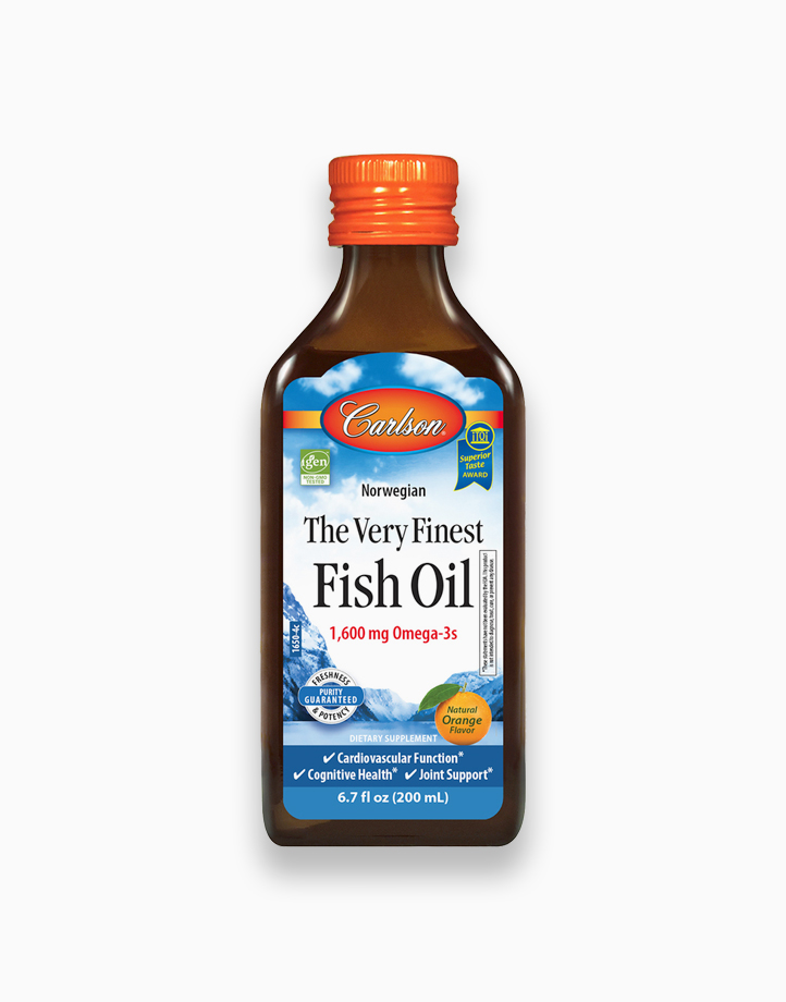The Very Finest Fish Oil 1,600 mg Omega-3s (Orange Flavor) 200 ml by Carlson