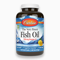 The Very Finest Fish Oil Lemon Flavor (120 Softgels) by Carlson