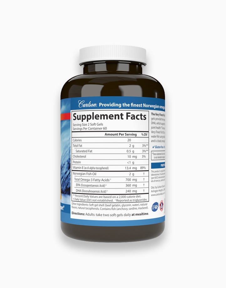 The Very Finest Fish Oil 700 mg Omega-3s Lemon Flavor (120 Softgels) by Carlson