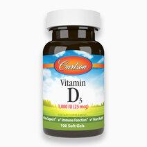 Vitamin D3 1,000 IU 25 mcg (100 Softgels) by Carlson