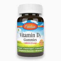 Vitamin D3 Gummies, 1000 IU (25 mcg) - 60 Vegetarian Gummies by Carlson