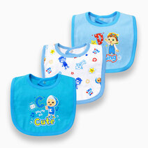 Cocomelon - 3-piece Snap-On Bib (Sing with Me) by Cotton Stuff
