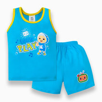 """Cocomelon Toddler - """"Let's Play"""" Sando and Shorts Set for Boys (Play with Me) by Cotton Stuff"""