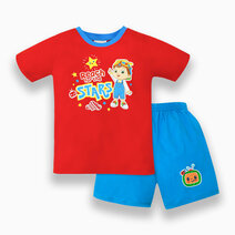 """Cocomelon Toddler - """"Reach For The Stars"""" T-Shirt and Shorts Set for Boys (Play with Me) by Cotton Stuff"""
