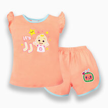 """Cocomelon Toddler - """"It's JJ"""" Ruffle Blouse and Shorts Set for Girls (Play with Me) by Cotton Stuff"""