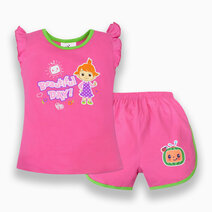 """Cocomelon Toddler - """"Beautiful Day"""" Ruffle Blouse and Shorts Set for Girls (Play with Me) by Cotton Stuff"""