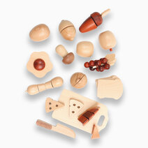 30-Piece Beechwood Pretend Play Chopping Set by Kidz and Co.