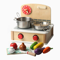 Tabletop Cooking and Chopping Set for Pretend Play by Kidz and Co.