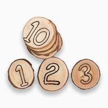 Reggio Material-Inspired Unfinished Wooden Counters by Kidz and Co.