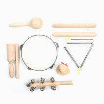 7-in-1 Wooden Non-Toxic Percussion Instrument Set by Kidz and Co.
