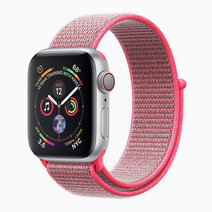 FIBRO-42 Sporty Nylon Mesh Adjustable Strap (No Buckle Design for Apple Watch 1, 2, 3 & 4. 42mm) - Pink by Promate