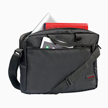 """GEAR-MB Lightweight Messenger Bag with Front Storage Zipper (for Laptops up to 15.6"""") - Black by Promate"""