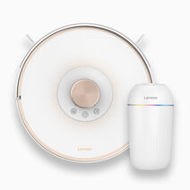 Robot Vacuum Cleaner with Laser Navigation T1s (White) with FREE Car Style Air-Cleaning Disinfector FC101 by Lenovo