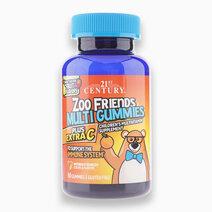 Zoo Friends Multi Gummies Plus Extra C, Fruit Flavors (60) by 21st Century