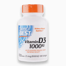 Vitamin D3 25mcg (1,000IU) - 180 Softgels by Doctor's Best