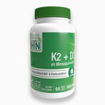 K2 (100mcg as Menaquinone 7) + D3 (1000iu) 60 Vegecaps by Health Thru Nutrition