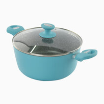 Spectrum Non-Stick Induction Casserole with Tempered Glass Lid (24cm) by Masflex