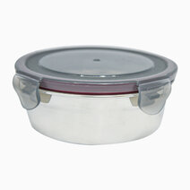 Round Stainless Steel Food Container (430ml) by Masflex