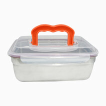 Stainless Steel Rectangular Food Container with Handle (2.8L) by Masflex