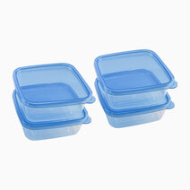 4-Piece Square Container (600ml) by Masflex