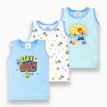 3-Piece Sando for Boys (Groovy) by Cotton Stuff