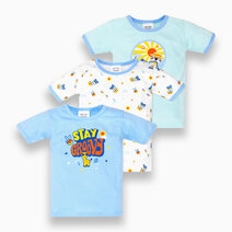 3-Piece T-Shirt for Boys (Groovy) by Cotton Stuff