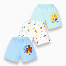 3-Piece Shorts for Boys (Groovy) by Cotton Stuff