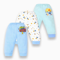3-Piece Pajama Pants for Boys (Groovy) by Cotton Stuff