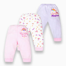 3-Piece Pajama Pants for Girls (Groovy) by Cotton Stuff