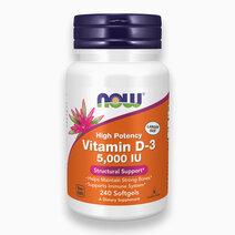 High Potency Vit D-3 Softgel (5,000 IU) by NOW