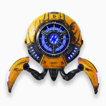 Mars War Damaged Yellow Bluetooth Speaker by GRAVASTAR