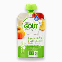 Spelt Milk, Apple, Peach Non-Dairy Yogurt (90g) by Good Goût