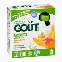 Coconut Milk, Mango, Banana, Passion Fruit Non-Dairy Yogurt (4x85g) by Good Goût