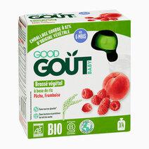 Rice Milk, Peach, Raspberry Non-Dairy (4x85g) by Good Goût