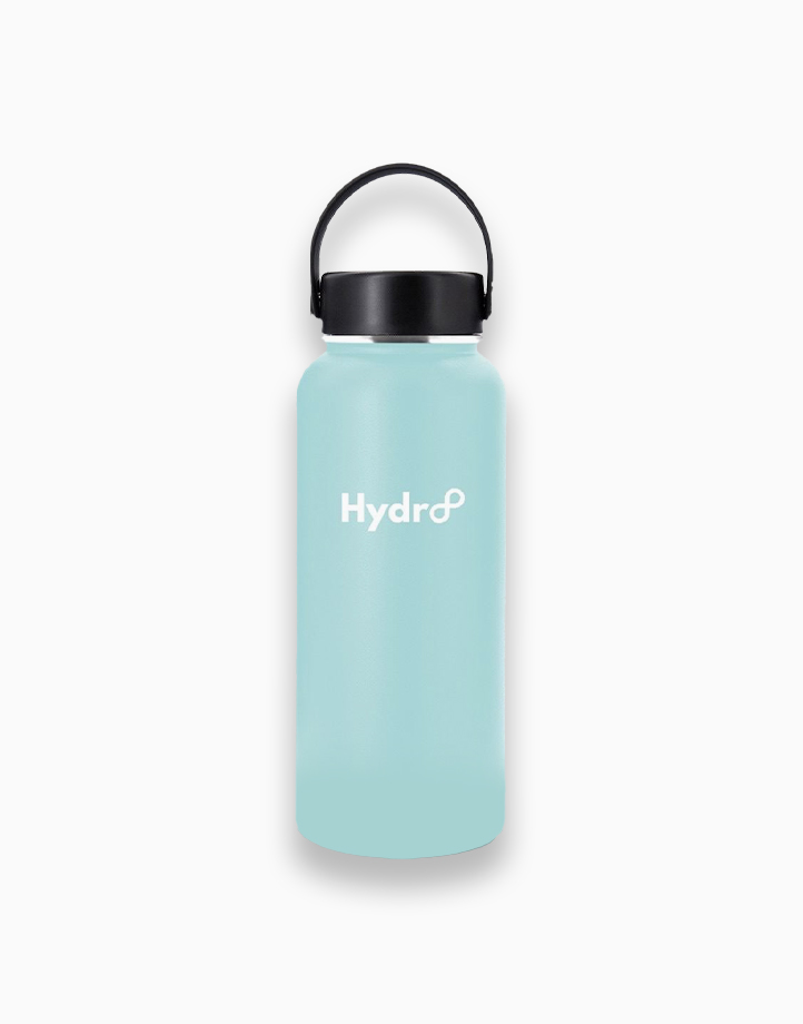 Hydr8 32 oz. (946 ml) Wide Mouth Insulated Stainless Steel Water Bottle Tumbler by Hydr8   Aqua Blue