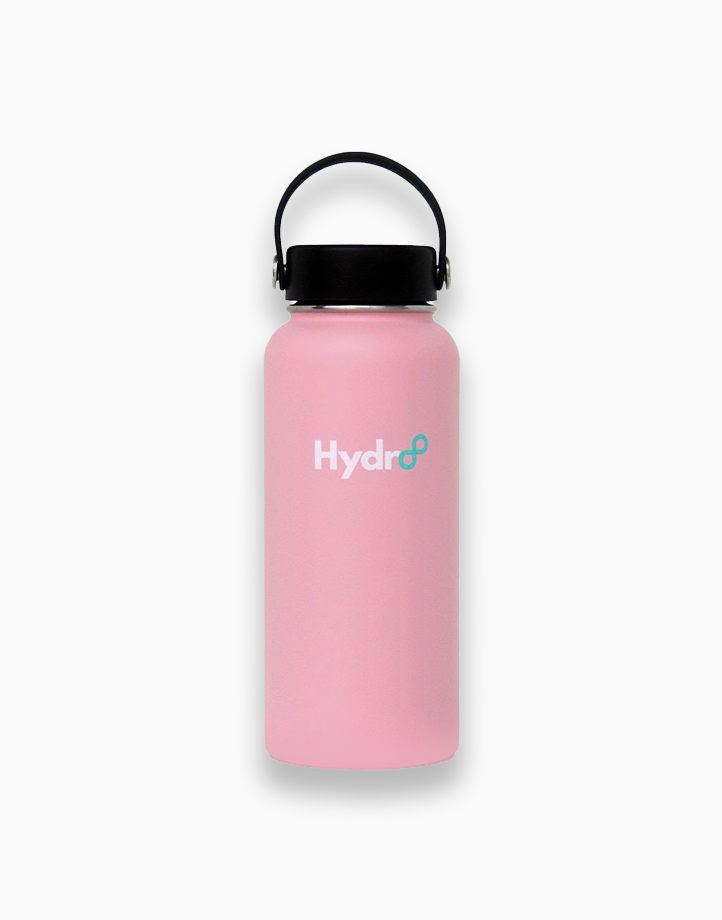 Hydr8 32 oz. (946 ml) Wide Mouth Insulated Stainless Steel Water Bottle Tumbler by Hydr8   Pink