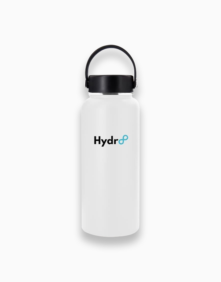 Hydr8 32 oz. (946 ml) Wide Mouth Insulated Stainless Steel Water Bottle Tumbler by Hydr8   White