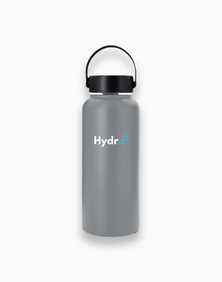 Hydr8 32 oz. (946 ml) Wide Mouth Insulated Stainless Steel Water Bottle Tumbler by Hydr8   Gray