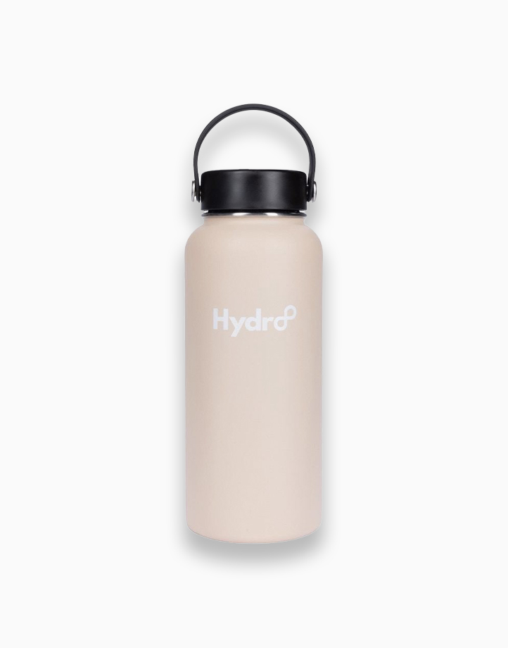 Hydr8 32 oz. (946 ml) Wide Mouth Insulated Stainless Steel Water Bottle Tumbler by Hydr8   Beige