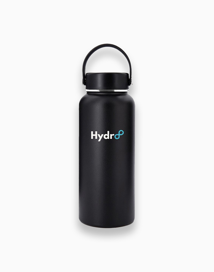 Hydr8 32 oz. (946 ml) Wide Mouth Insulated Stainless Steel Water Bottle Tumbler by Hydr8   Black