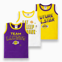 NBA Baby - 3-Piece Sando (Future All Star - Lakers) by Cotton Stuff