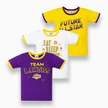 NBA Baby - 3-Piece T-Shirt (Future All Star - Lakers) by Cotton Stuff