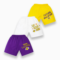 NBA Baby - 3-Piece Shorts (Future All Star - Lakers) by Cotton Stuff